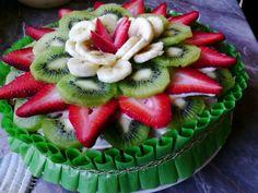 Tarta de fruta - Tartas de frutas faciles de hacer - Fruit Cake italian food, italian recipes, cocina italiana, cocina italiana