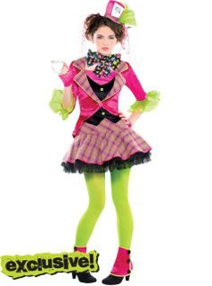 Teen Girls Teatime Mad Hatter Costume - Party City my daughter picked this as her back up costume because Skelita Calvera Monster High is sold out....so hopefully this will do now