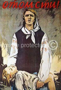 Soviet Propaganda Poster WW2  Revenge!