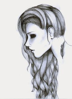 Most design ideas easy pencil drawings pictures, and inspira Cool Drawings Tumblr, Easy Drawings Sketches, Sketches, Easy Drawings For Kids, Scary Drawings, Art, How To Draw Hair, Sketch Videos, Pencil Drawings Tumblr