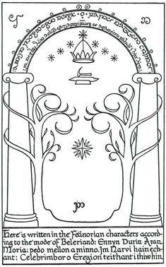 The Doors of Durin (commonly called the Doors of Moria) are the greatest, and last, testament to the close relationship between the dwarves of Moria and the elves of Eregion in the second age. The...
