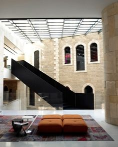 View the full picture gallery of Alrov Mamilla Hotel And Spa Exterior Design, Interior And Exterior, Stair Ladder, Hotel Lounge, Paris Design, Beautiful Hotels, Loft Spaces, Commercial Interiors, Beautiful Buildings