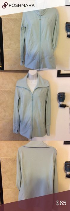 LuluLemon Stride Jacket - Pale Blue Lycron material. Good used condition. Size 8. No rips no tears.  Very minor piling. lululemon athletica Jackets & Coats