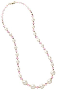 Jewelry Design - Single-Strand Necklace with Swarovski Crystal Beads and Swarovski Crystal Pearl Beads - Fire Mountain Gems and Beads