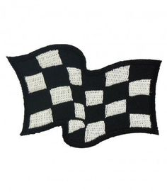 """WAVING CHECKER FLAG"" WOVEN PATCH, ACCESSORIES"