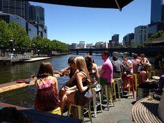 Pony Fish Island Bar in the middle of the Yarra. Melbourne Bars, Melbourne Food, Island Bar, Pedestrian Bridge, Cool Bars, Pony, Middle, Gardens, Australia