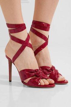 Altuzarra - Zuni Knotted Eel Sandals - Red - IT38.5