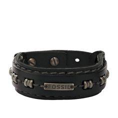 Fossil Armband * JA5755716 * Herrenarmband Leder Armband Schwarz NEU #Fossil #averdo #leather #bracelet #Lederarmband #men