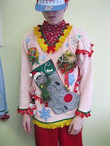 3-D Flamingo Tacky Ugly Christmas Sweater Dress with PomPom Trim ...