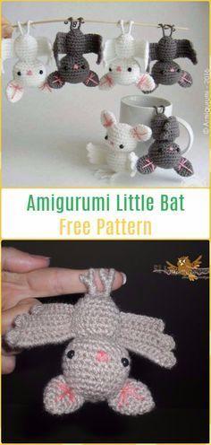 Amigurumi Little Bat Free Pattern-Amigurumi Crochet Bat Free Patterns