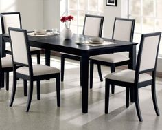 Coaster Lexton Dining Table and Four Chairs