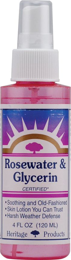 Heritage Products Rosewater and Glycerin Spray