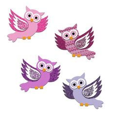 Zauberhafte Deko-Eulen in « Komplettpackungen « Rund ums Papier « Basteln … Enchanting decorative owls in «Complete packages« All about paper «Buy handicrafts in the Junghans-Wolle Creativ-Shop 3d Paper Art, Diy Paper, Paper Crafts, Owl Applique, Rock Painting Patterns, Little Panda, Flower Boxes, Types Of Art, Pin Collection
