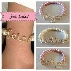 Etsy listing at http://www.etsy.com/listing/128991113/kids-custom-wire-name-or-word-bracelet