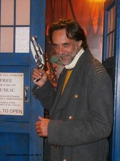 The Doctor (Bashir) in the TARDIS. This is NO MANIP. I took this photo of Alexander Siddig today at FedCon 2014 in Düsseldorf. Against all odds my Jack and me were with him in the elevator when he was on his way to the TARDIS. We led him to the TARDIS and he took Jacks coat on, which is a real prop from the show - so here I give you: Alexander Siddig as the Doctor with Jack Harkness' coat and blaster!