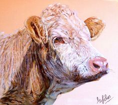 Gallery of Cow paintings and farmyard art including sheep paintings and pigs - Margaret James Art - Animal & Wildlife paintings specialising in dog, cow and horse portraits