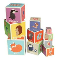 bloques juguete abecedario numeros rusty the fox