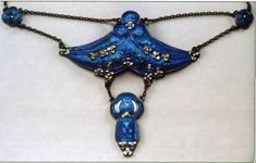 Silver and enamel pendant by Liberty & Co. designed by Jessie M. King (1875-1949)