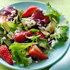 Sunset reader Christine Johnson, of Shelton, Washington, likes to use spring strawberries fresh from her garden in this salad. She suggests making it with mixed baby greens, but we also enjoyed it with baby spinach.