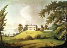 Mount Vernon, Virginia, home of George Washington, engraved by Francis Jukes 1745-1812 1800 (after) Robertson, Alexander | Oil Painting Repr...
