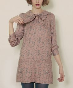 Take a look at this Pink Nude Romantic Dress by Titis Clothing on #zulily today!
