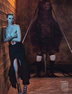 Lara Stone 'Love Machine' By Steven Klein For W 9