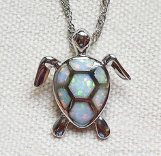 Lovely Sea Turtle White Fire Opal Pendant Necklace For Lady from Fire_opal_jewelry,$4.91 | DHgate.com