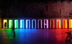 Ivan-Navarro Threshold, light sculptures create a fiction of depth at the 53rd International Venice Art Biennale