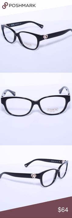 COACH HC 6038 5002 Eyeglasses Optical Frames Glass Brand New 100% Authentic COACH HC 6038 5002 Eyeglasses Optical Frames Glasses Black ~ Silver Heart 51mm Comes with Generic Case, NO Pouch Coach Accessories