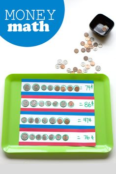 Math lesson about money - great for homeschool or any parent who wants to teach their child about coins!