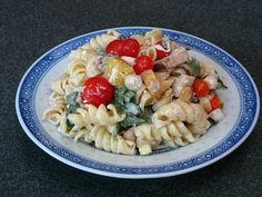 Soy Sauce Chicken and Peach Pasta Salad