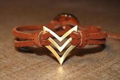 Chevron Bracelet  Natural Tan Brown  Arrow  Native by TwoOneButton, $20.00 - FREE SHIPPING WITH COUPON CODE PINTEREST