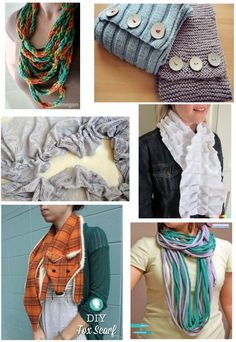 Make Your Holidays: 6 Pretty DIY Scarves   The DIY Adventures- upcycling, recycling and do it yourself from around the world.