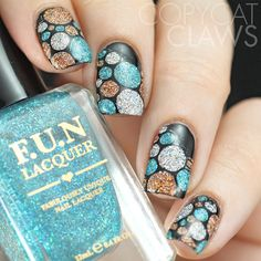 UberChic Beauty Collection 8 and Mini Uber Mats Woo hoo love this color combo and pattern! Uber Chic Beauty Stamps are super Uber for Sure! Nail art is awesome and so easy to achieve this look! Perfect nails = Perfect stamps! Love this look!