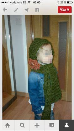 Gorro bufanda niña