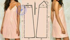 Шитье | простые выкройки | простые вещи | VK Linen Dress Pattern, Nightgown Pattern, Dress Sewing Patterns, Clothing Patterns, Underwear Pattern, Lingerie Patterns, Sewing Lingerie, Sewing Clothes, Diy Clothes