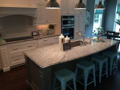 Silver Cloud Granite / exactly how I want the island at Elton Hills house