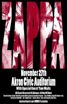Frank Zappa / Tom Waits 1973 Concert Poster