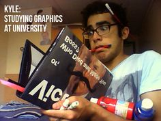 Kyle Elwis studying Graphic Design at Lincoln University
