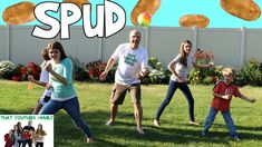 """We play a game called SPUD where one player throws a ball into the air and the other players run. As soon as the ball is caught """"SPUD"""" is shouted out and all. Family Rules, Family Guy, Cactus Games, That Youtube Family, Alisha Marie, Game Calls, Youth Ministry, Fun Games, Girl Scouts"""