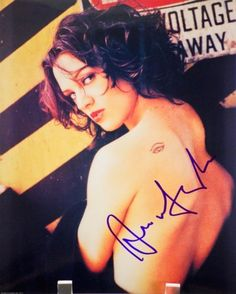 Asia Argento In-Person Autographed 8x10 Sexy Color Photograph - Signed in Blue Sharpie - Father is D @ niftywarehouse.com #NiftyWarehouse #Dracula #Vampires #ClassicHorrorMovies #Horror #Movies #Halloween #Vampire