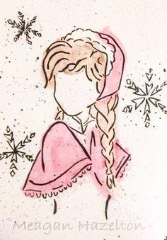 Princess Anna in watercolor