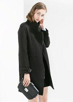 Mantel mit hohem kragen - Mäntel für Damen | MANGO
