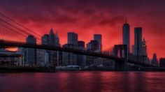 Crimson Sky - This is probably my favourite shot from my last trip in NYC. I had to wait until the very last day of my brief visit to be rewarded with this amazing red sky over Manhattan and Brooklyn Bridge. The whole spectacle lasted just a few minutes before returning to murky grey tones.  Isn't that how all wonderful moments in life come and go?