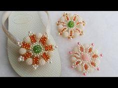 Como fazer a Flor July com pérolas craqueladas - Cícero Alencar - YouTube