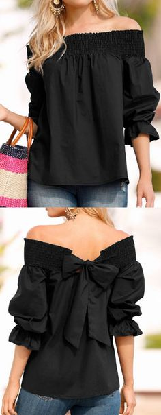 One Last Chance Off the Shoulder Top.  TheChicFind.com #classy #fashioninspiration #outfits