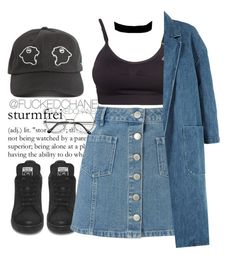 """""""11:25"""" by fuckedchanel ❤ liked on Polyvore featuring Miss Selfridge, adidas, Sandy Liang and Urban Renewal"""
