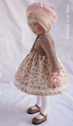 """Autumnal Sweetie"", a hand made ensemble for Helen Kish's Bethany doll, cindyricedesigns.com ."