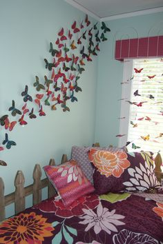 Addison's bedroom theme is butterflies. I love this idea.