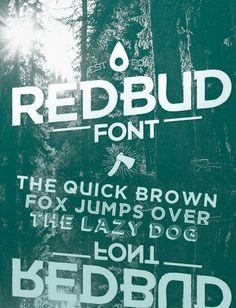 Redbud - Display sans-serif font, created by Paulreis